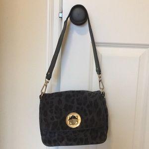 Kate Spade Leopard Black Gray Leather bag